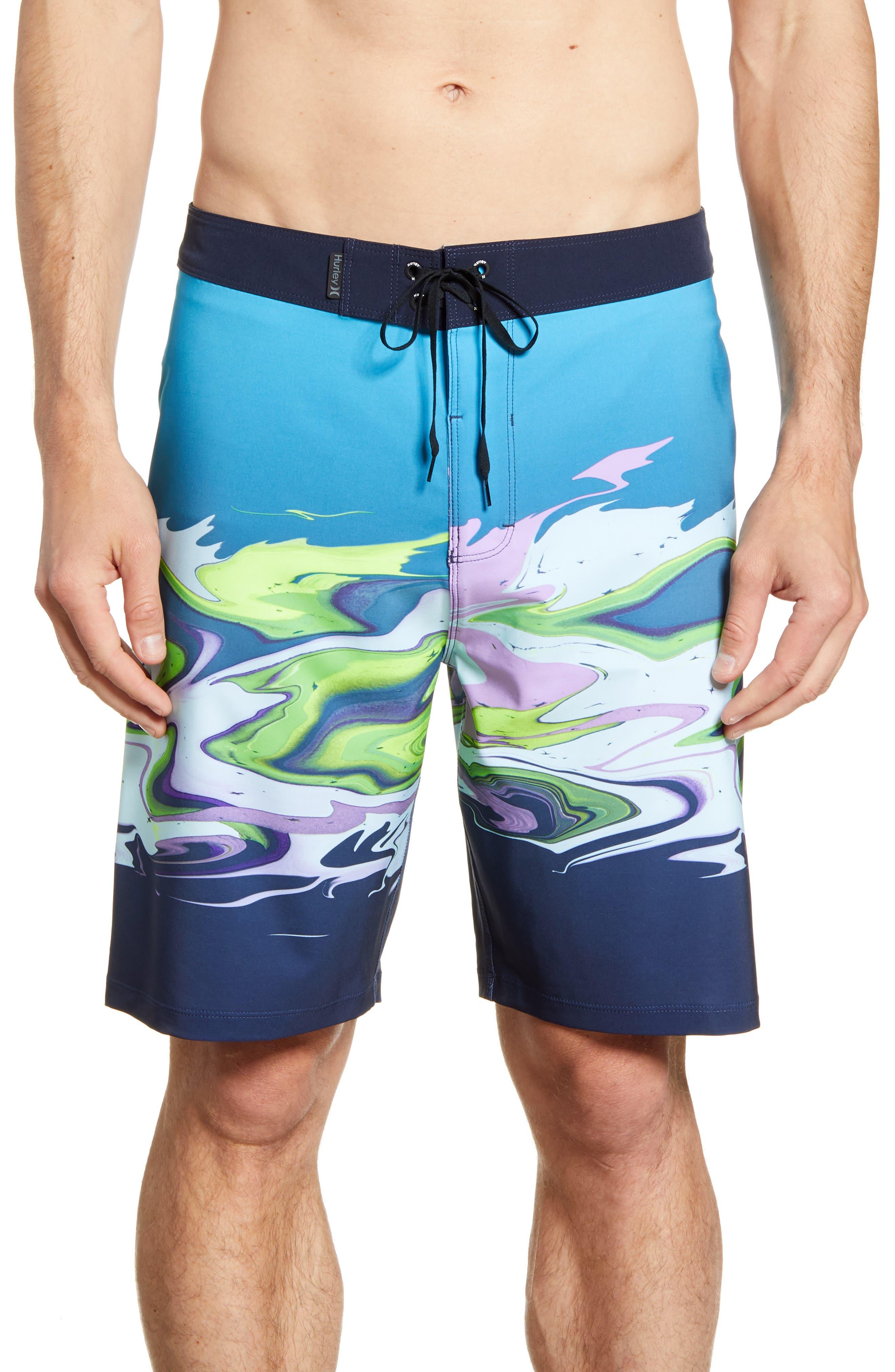 Hurley Phantom Voodoo Board Shorts, Blue
