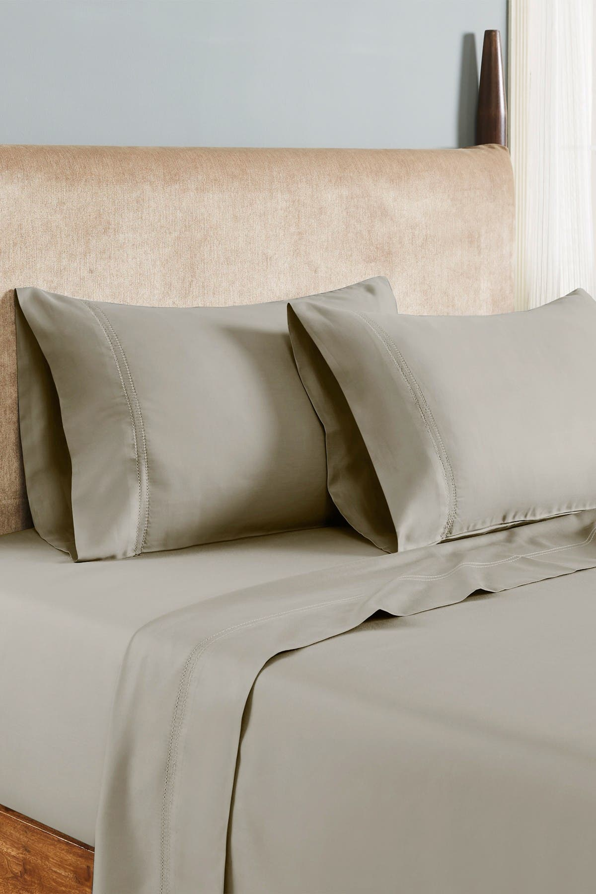 Image of Modern Threads 1000 Thread Count Tri-Blend 6-Piece Sheet Set With Double Hole Hem - Coconut - King