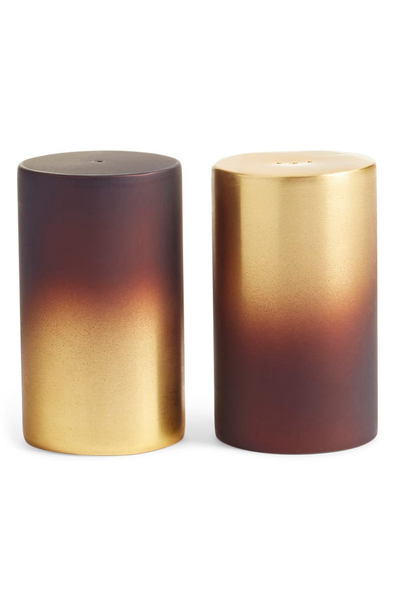 NORDSTROM at Home Salt & Pepper Shaker Set, Main, color, BRASS