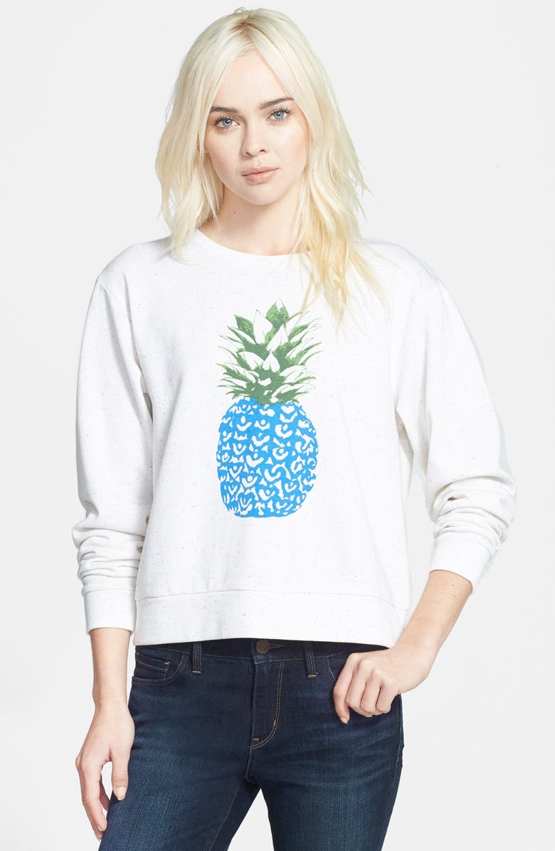 ACE DELIVERY Pineapple Print Sweatshirt, Main, color, 250