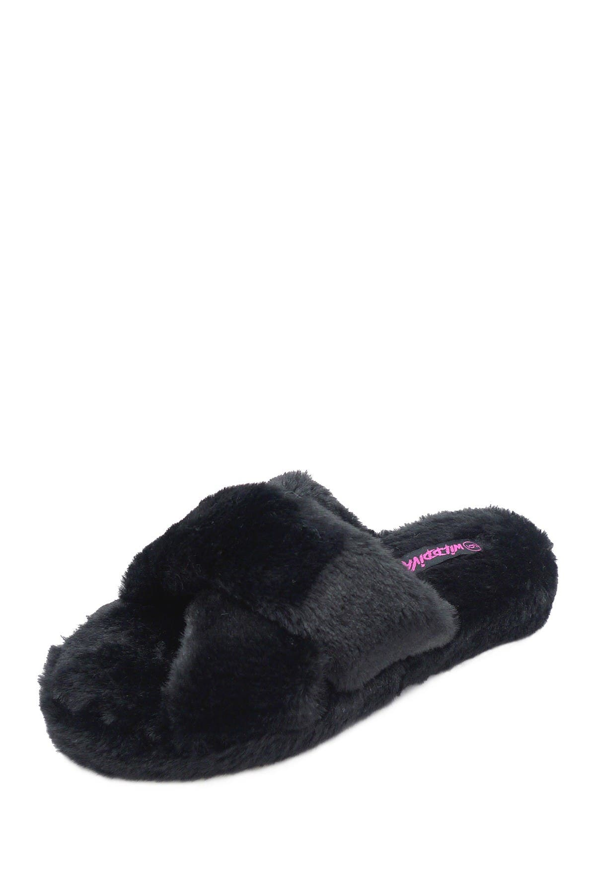 Image of Wild Diva Lounge Cuddles Plush Faux Fur Slipper