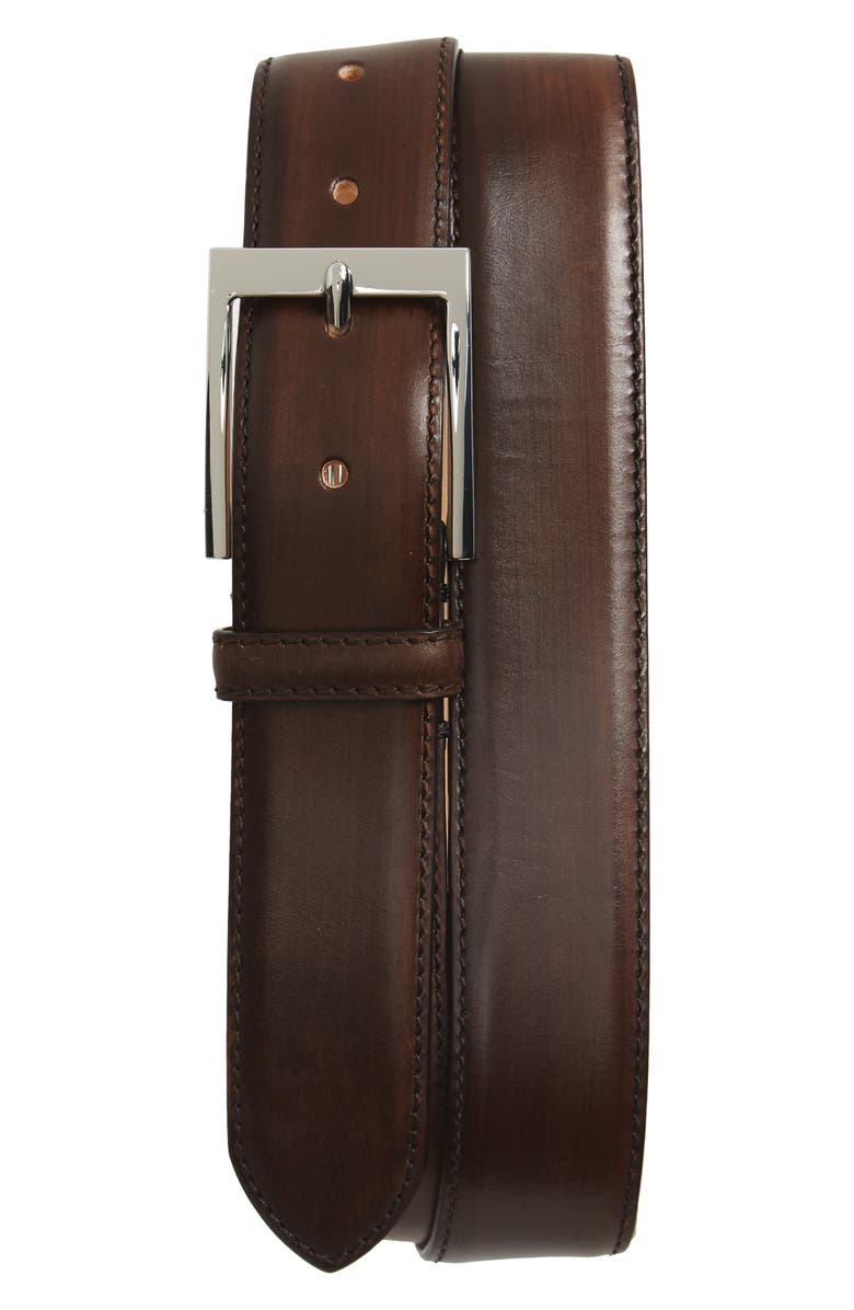 TO BOOT NEW YORK Leather Belt, Main, color, BROWN