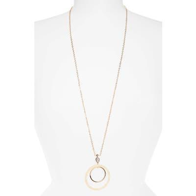 Lele Sadoughi Double Hoop Pendant Necklace
