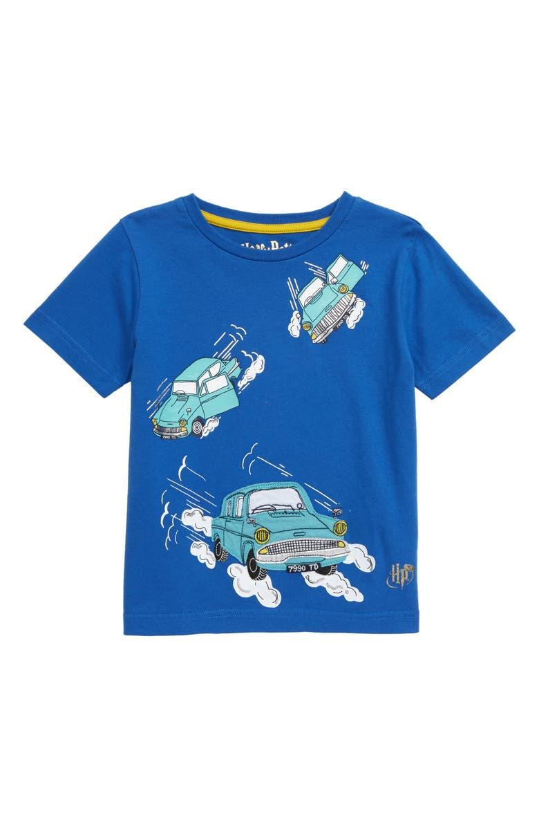 MINI BODEN Harry Potter Transport T-Shirt, Main, color, DUKE BLUE