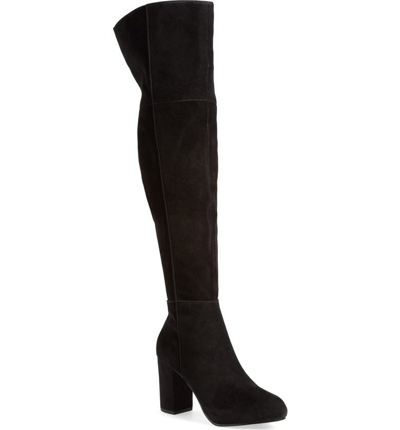 TOPSHOP 'Count' Over the Knee Boot, Main, color, 001