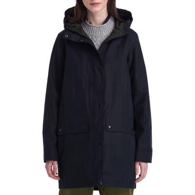 Barbour Manor Waterproof Hooded Rain Jacket, US / 14 UK - Black
