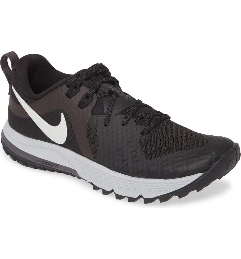 NIKE Air Zoom Wildhorse 5 Trail Running Shoe, Main, color, BLACK/ BARELY GREY/ GREY