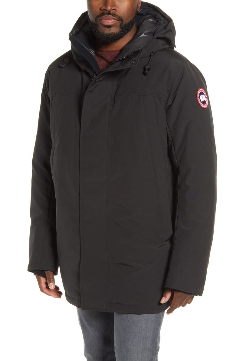 CANADA GOOSE Sanford 625 Fill Power Down Hooded Parka, Main, color, BLACK