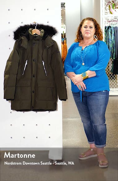 Faux Fur Trim Down & Feather Quilted Parka, sales video thumbnail