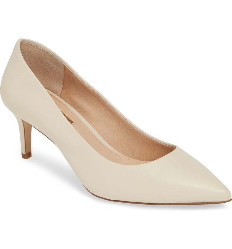 LOUISE ET CIE Jordyna Pump, Main, color, PORCELAIN LEATHER