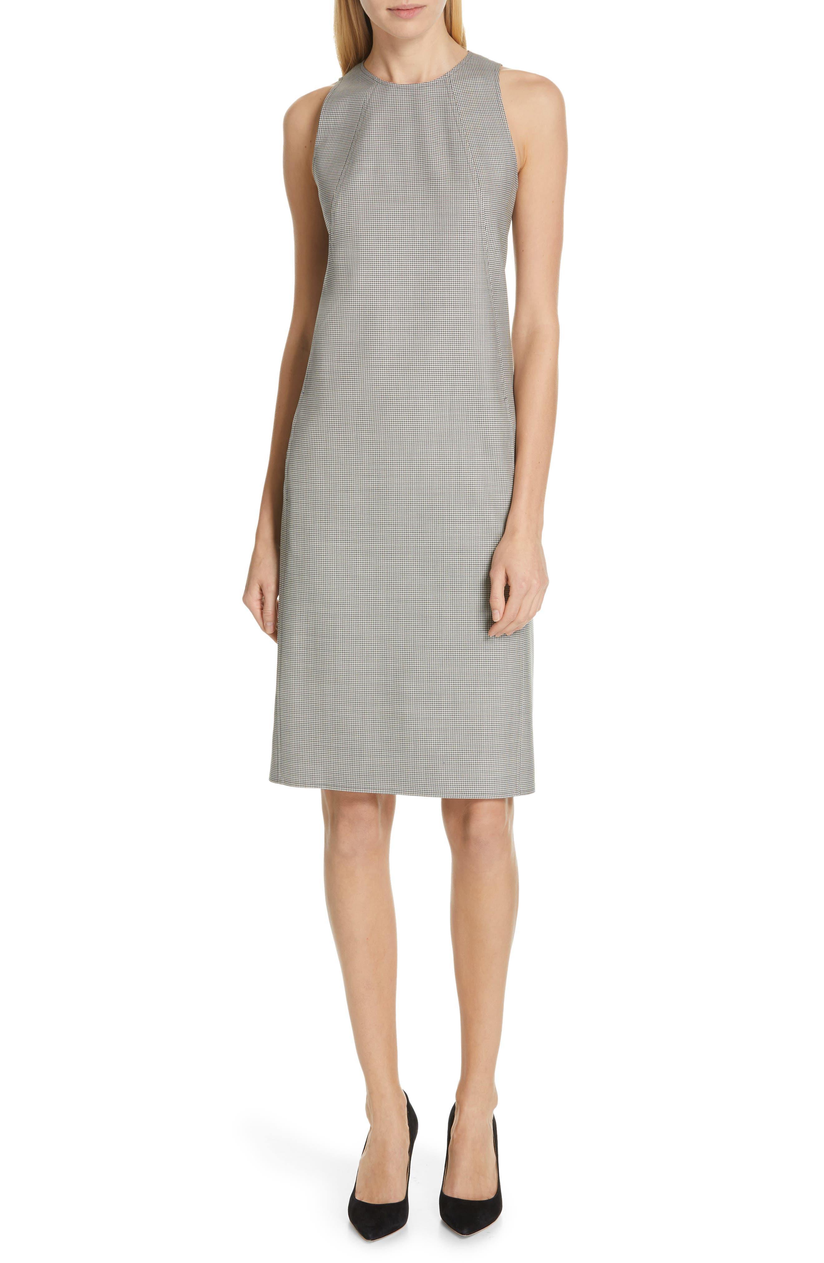 Polo Ralph Lauren Houndstooth Shift Dress, Grey