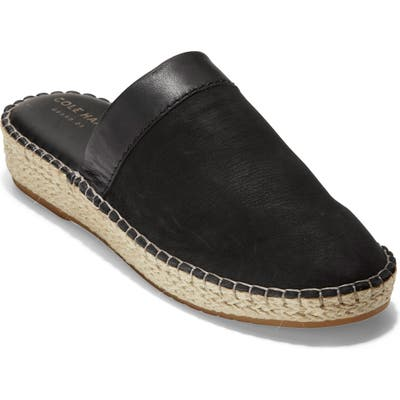 Cole Haan Cloudfell Espadrille Mule B - Black