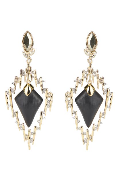 Alexis Bittar NAVETTE CRYSTAL SPIKED FRAME EARRINGS