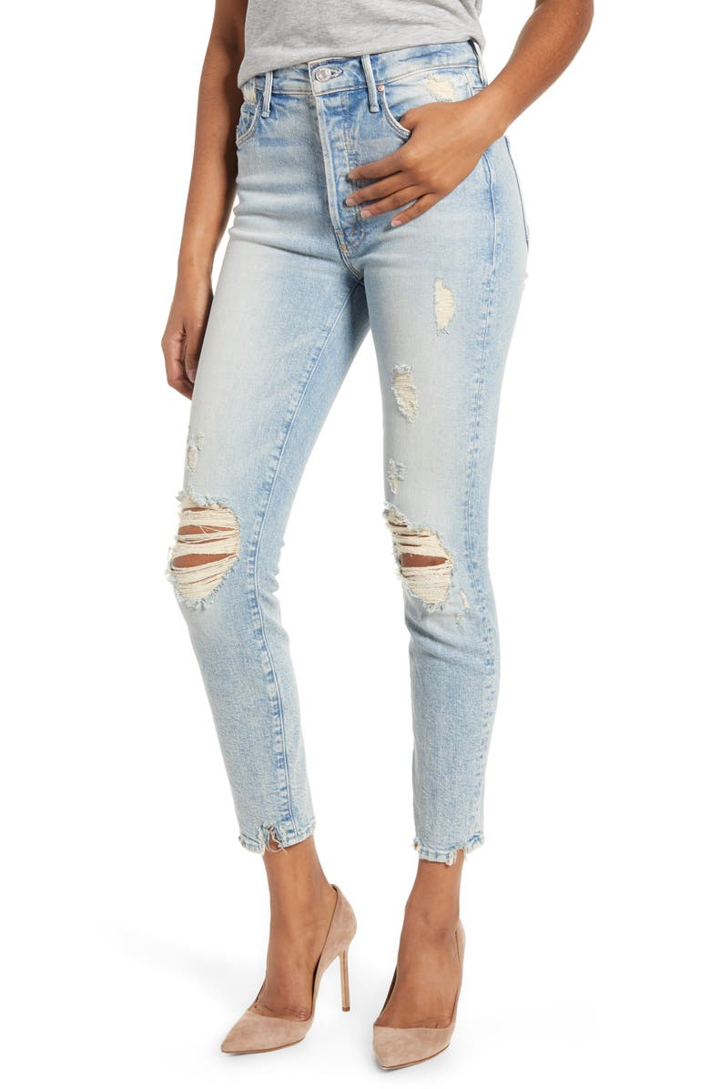 MOTHER MIRANDA + MOTHER Easy Does It High Waist Crop Skinny Jeans, Main, color, 452