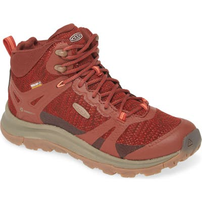 Keen Terradora Ii Waterproof Winter Hiking Boot, Red
