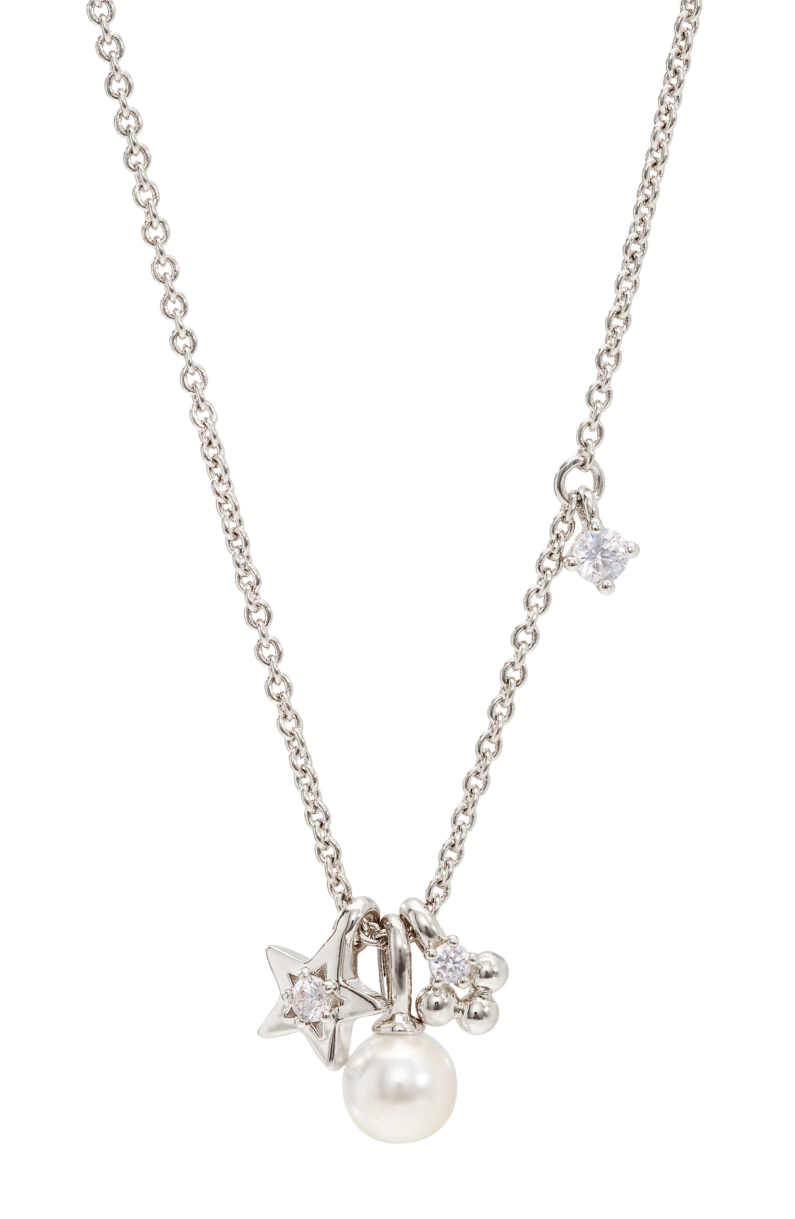 Triple Charm Pendant Necklace