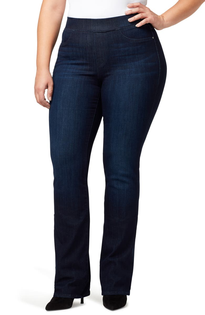 SANCTUARY Uplift Pull-On Demi Boot Jeans, Main, color, SEASTONE