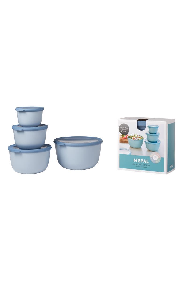 ROSTI MEPAL Cirqula Set of 4 Storage Bowls, Main, color, NORDIC BLUE