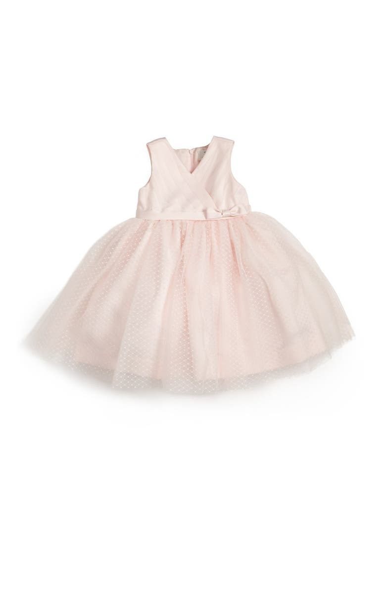 US ANGELS Satin & Tulle Dress, Main, color, 685