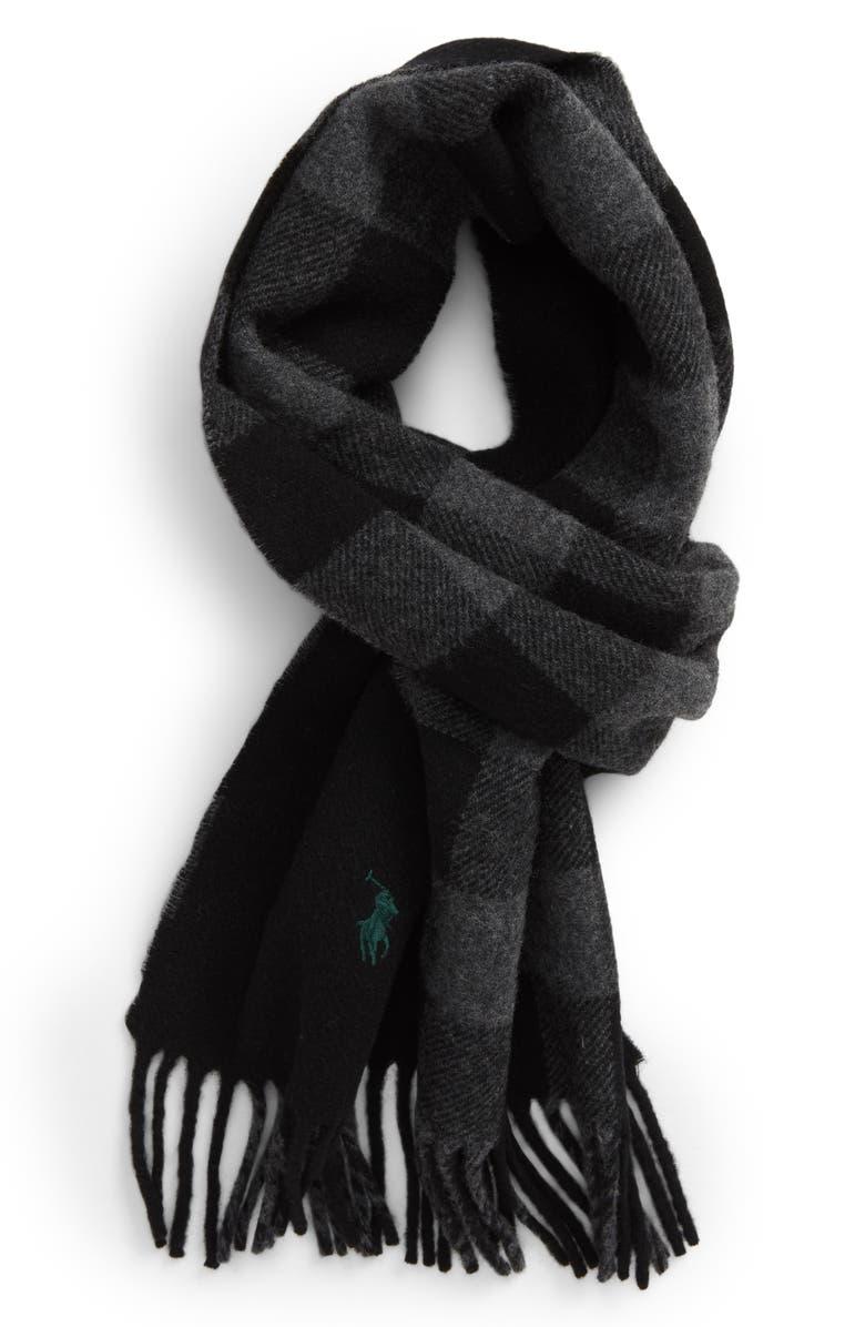 POLO RALPH LAUREN Reversible Wool Blend Scarf, Main, color, 001