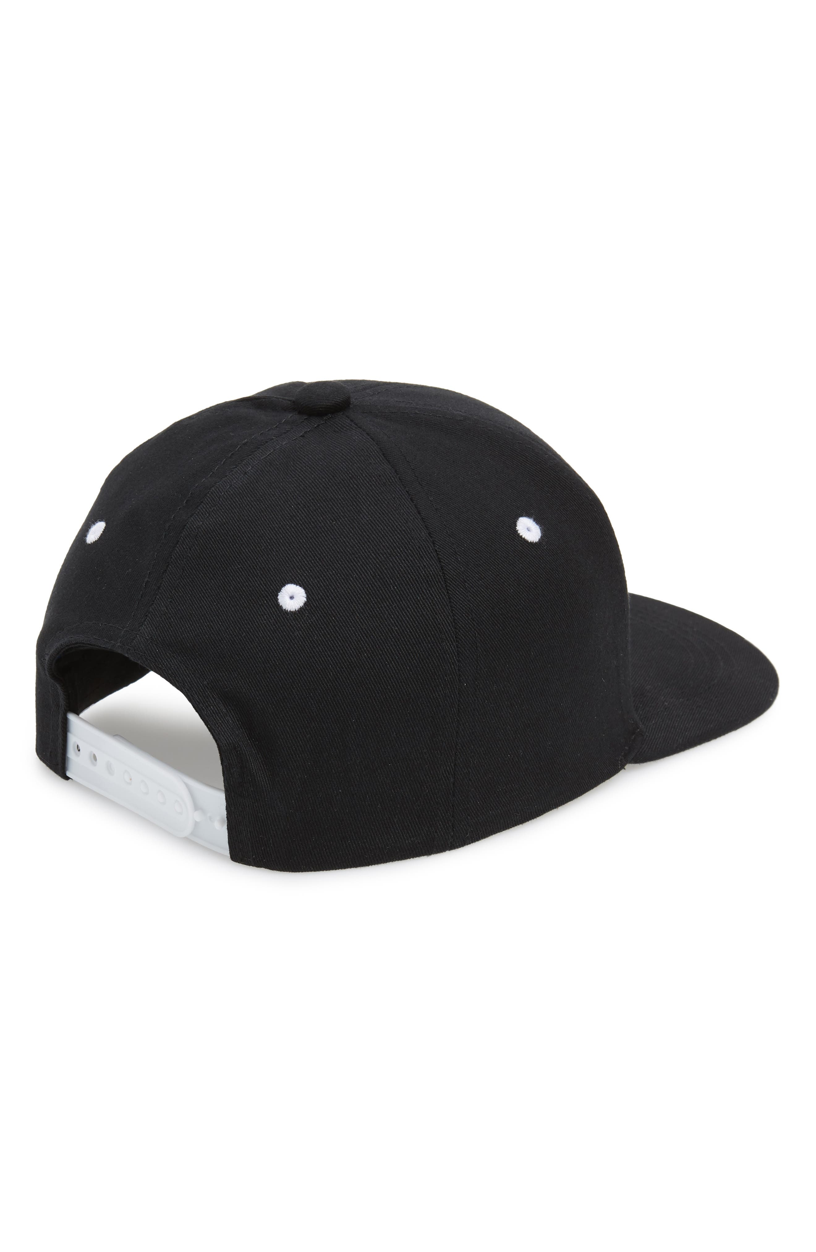 ,                             Authentic Bzadem Snapback Baseball Cap,                             Alternate thumbnail 2, color,                             BLACK-WHITE