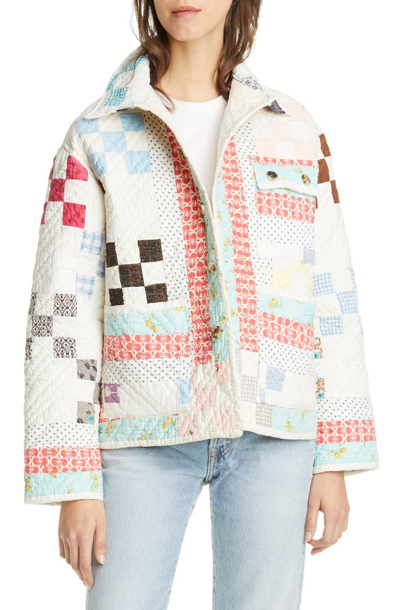 BODE Quilted Workwear Jacket, Main, color, SPRING MULTI