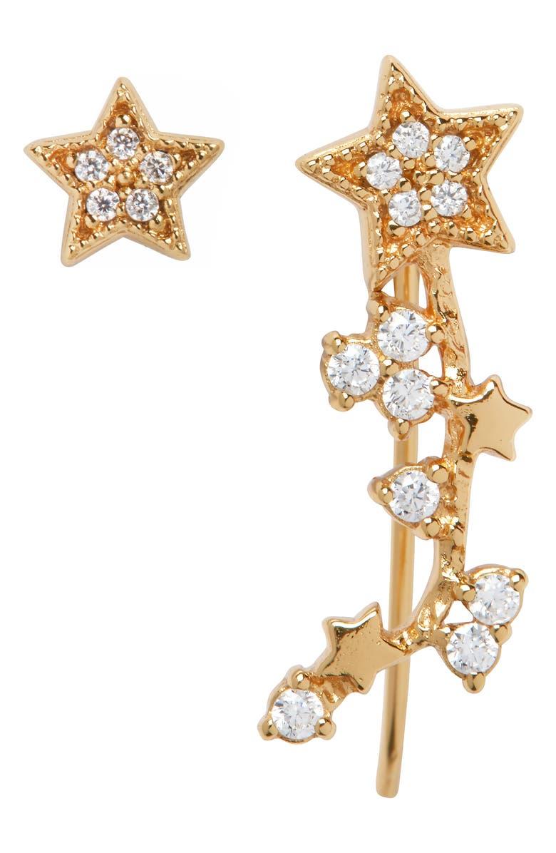 OLIVIA BURTON Celestial Ear Crawler & Stud Earring, Main, color, GOLD