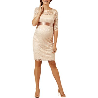Tiffany Rose Amelia Lace Maternity Cocktail Dress, Pink