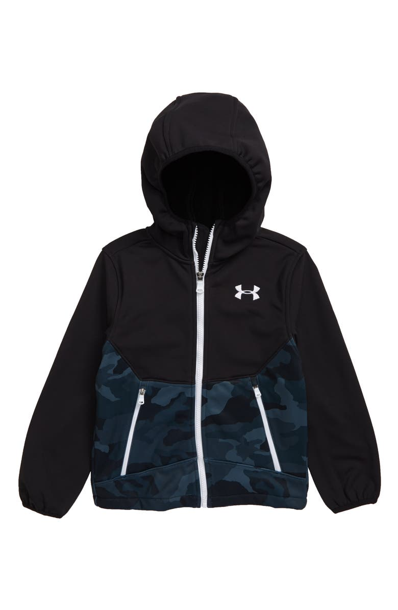 UNDER ARMOUR Storm ColdGear<sup>®</sup> Water Resistant Zip Hoodie, Main, color, BLACK