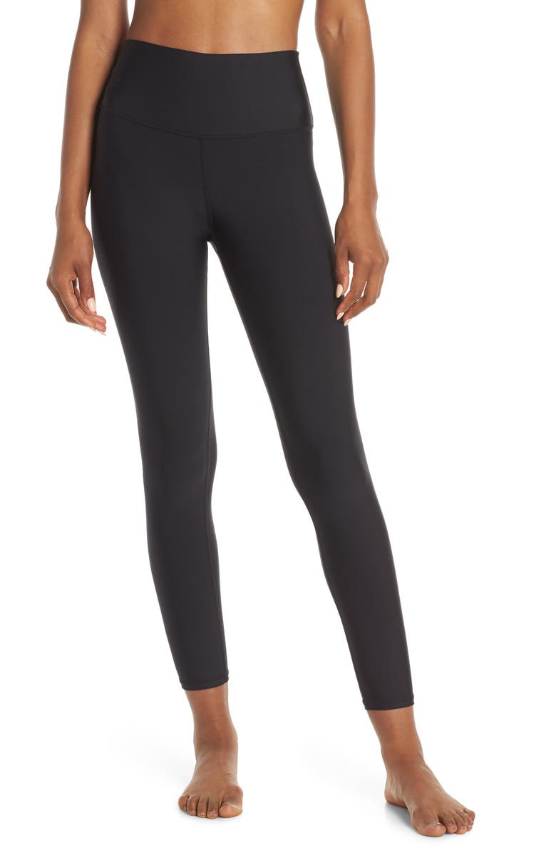 ALO Airlift High Waist 7/8 Leggings, Main, color, BLACK