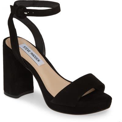 Steve Madden Perch Platform Sandal, Black