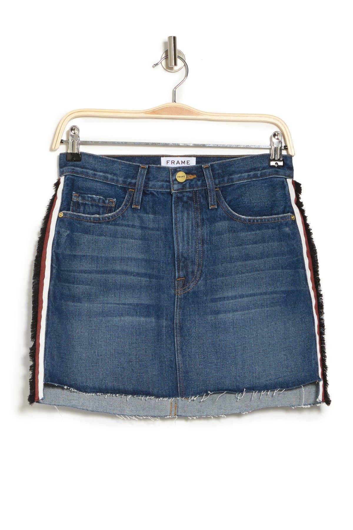 Image of FRAME Le Mini Step Hem Denim Skirt