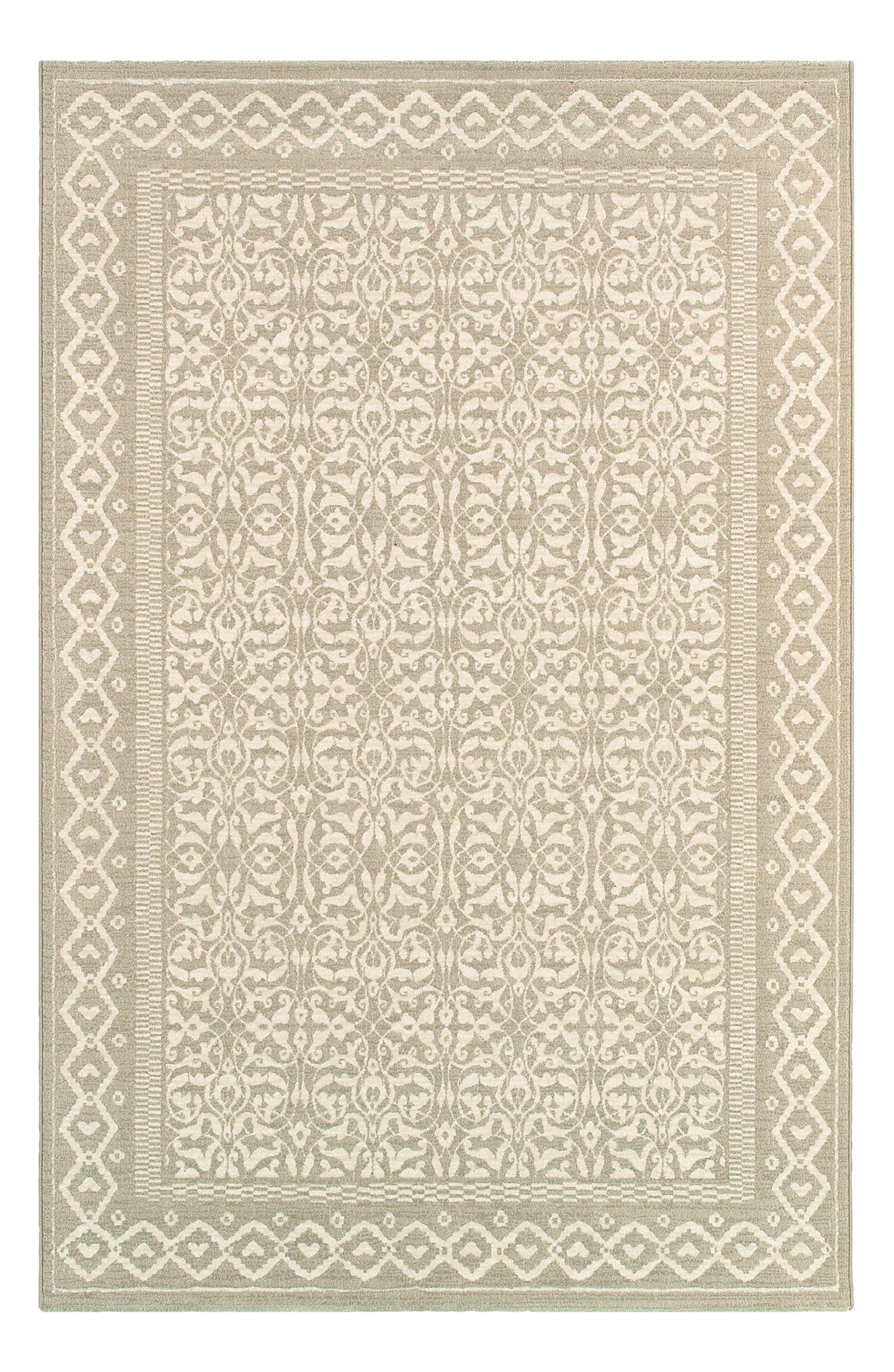 Ornate patterns define a versatile rug woven from fade-resistant polypropylene, making it great for high-traffic areas both inside and outside. Style Name: Couristan Ibiza Indoor/outdoor Rug. Style Number: 5366879. Available in stores.