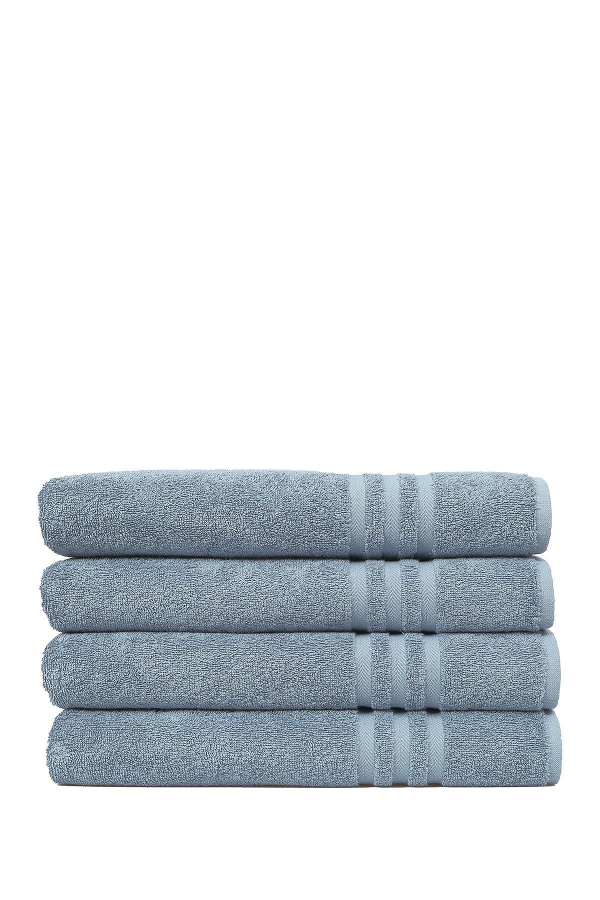 Image of LINUM HOME Denzi Bath Towels - Set of 4 - Denzi Blue