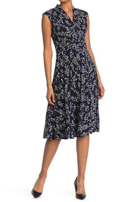 Image of Jessica Howard Printed Cap Sleeve Dress