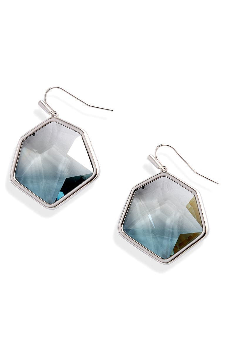 KENDRA SCOTT Vanessa Drop Earrings, Main, color, RHODIUM/ CHARCOAL GRAY OMBRE
