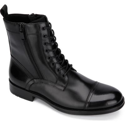 Kenneth Cole New York Hugh Cap Toe Boot- Black