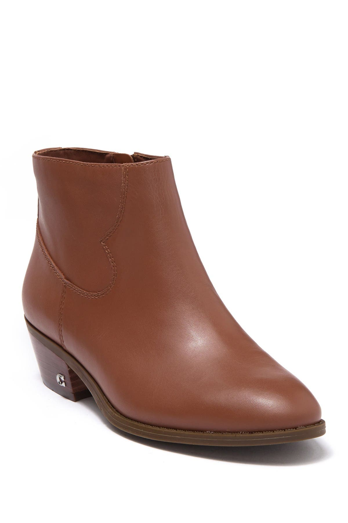 Image of Coach Dannie Leather Ankle Bootie