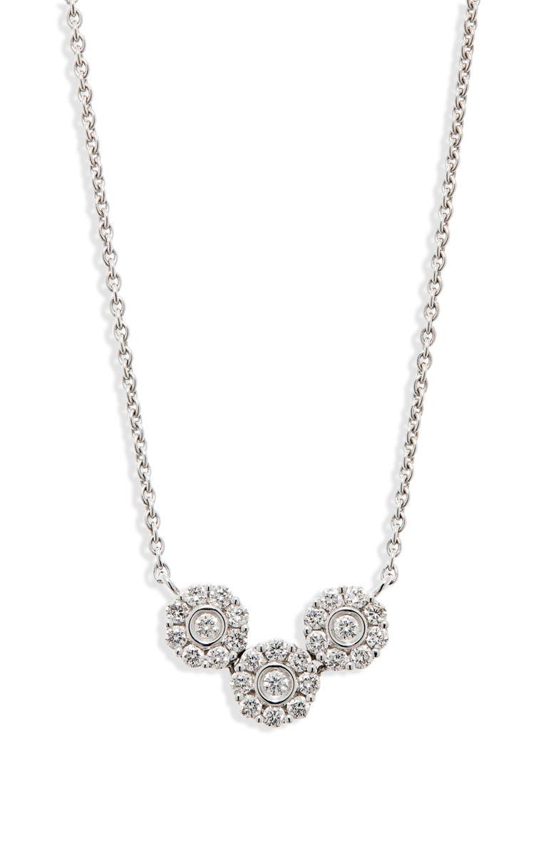 HUEB Diamond Flower Pendant, Main, color, DIAMOND