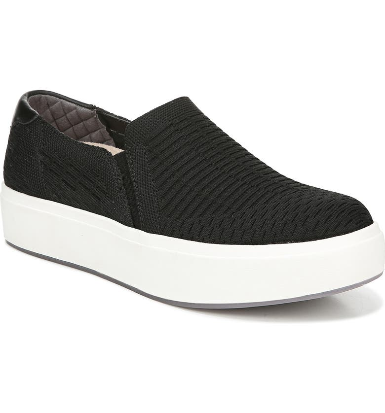 DR. SCHOLL'S Abbot Slip-On Sneaker, Main, color, BLACK KNIT FABRIC
