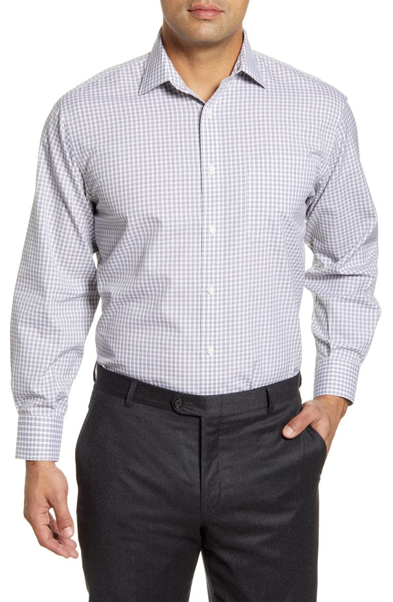 NORDSTROM MEN'S SHOP Smartcare<sup>™</sup> Classic Fit Check Dress Shirt, Main, color, GREY PAVEMENT