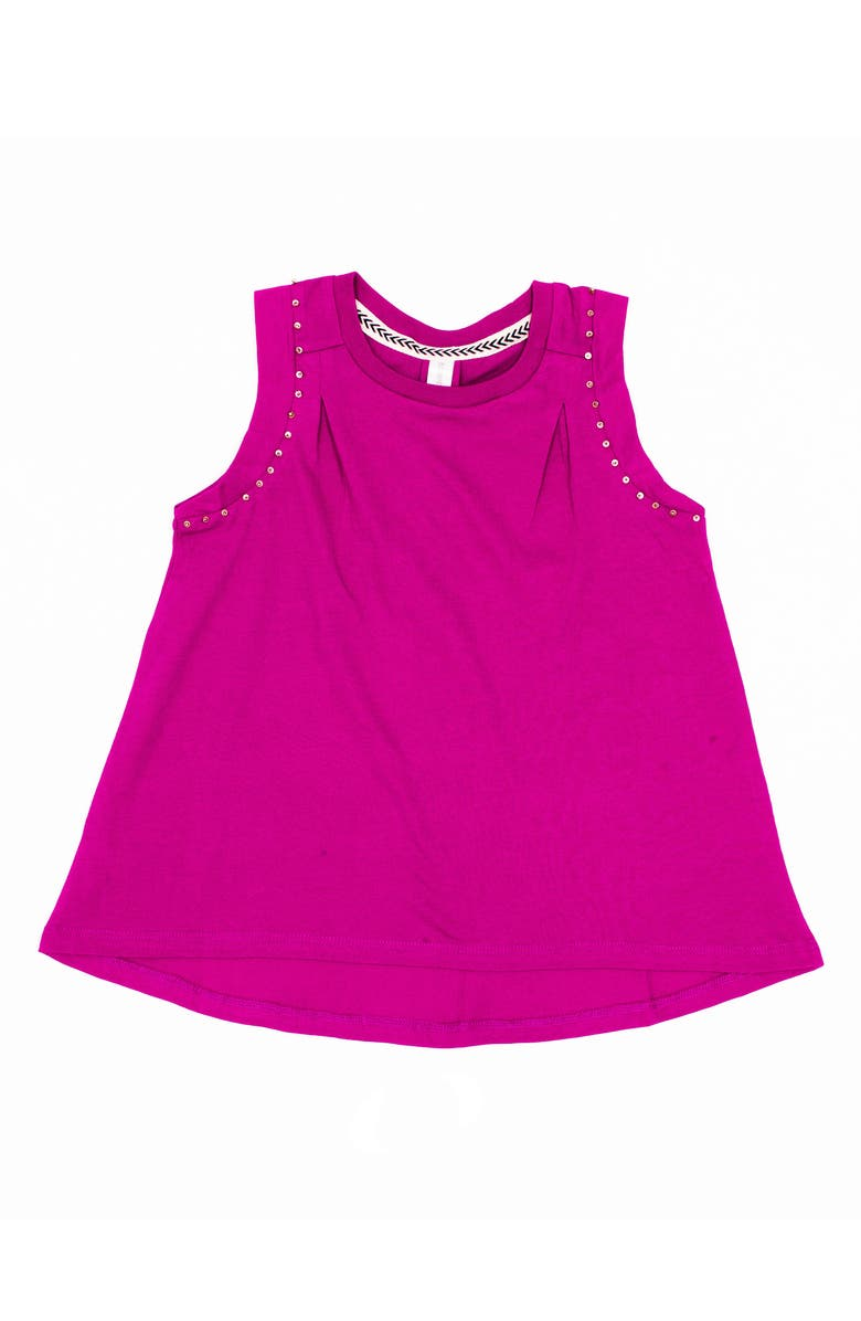 BOWIE X JAMES Foxy Beaded Muscle Tee, Main, color, PLUM