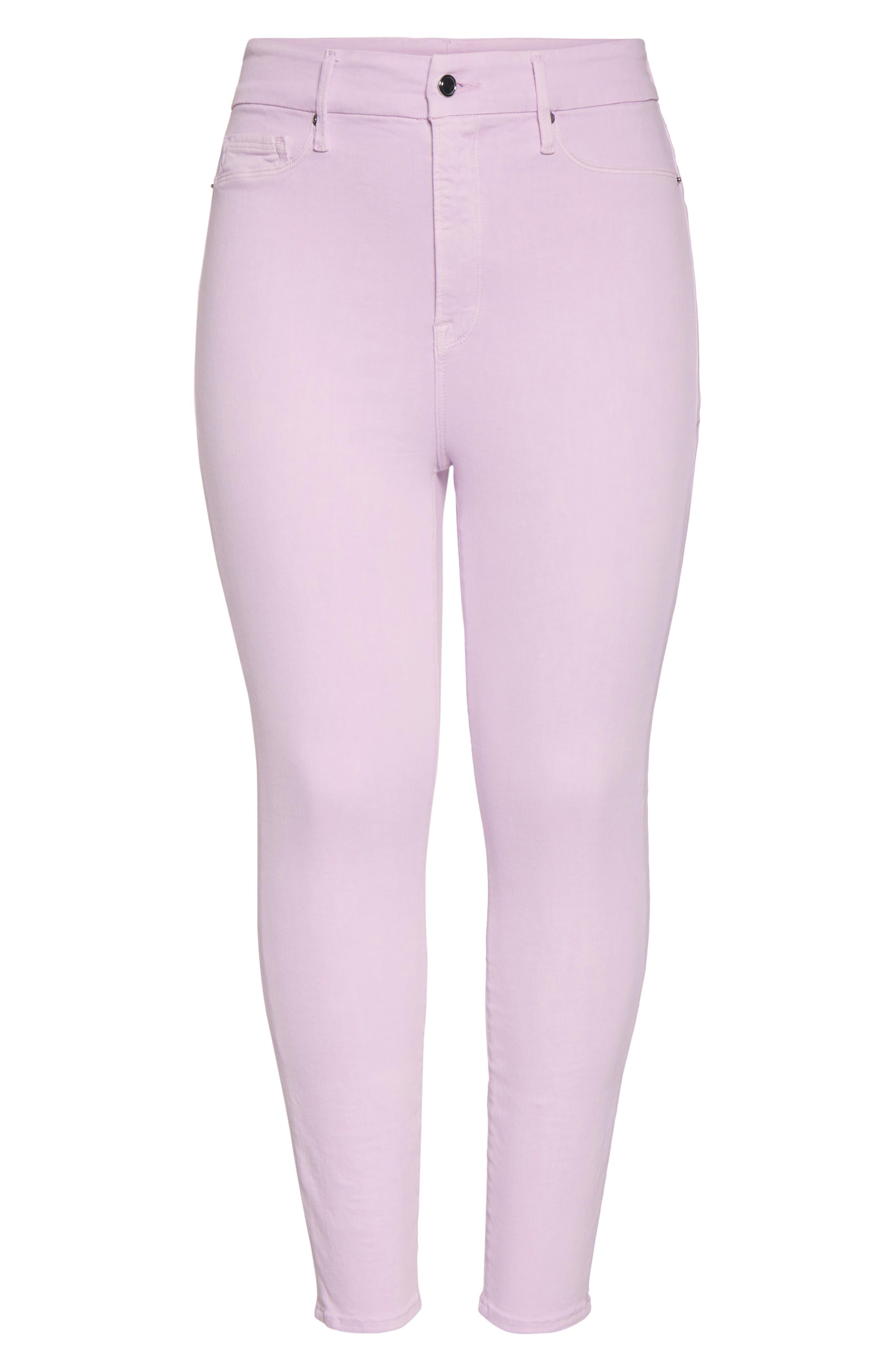 ,                             Good Legs High Waist Crop Skinny Jeans,                             Alternate thumbnail 7, color,                             LAVENDER001