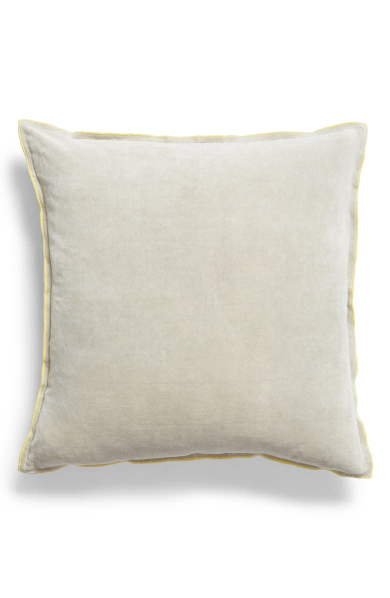 TREASURE & BOND Velveteen Accent Pillow, Main, color, GREY CHIME