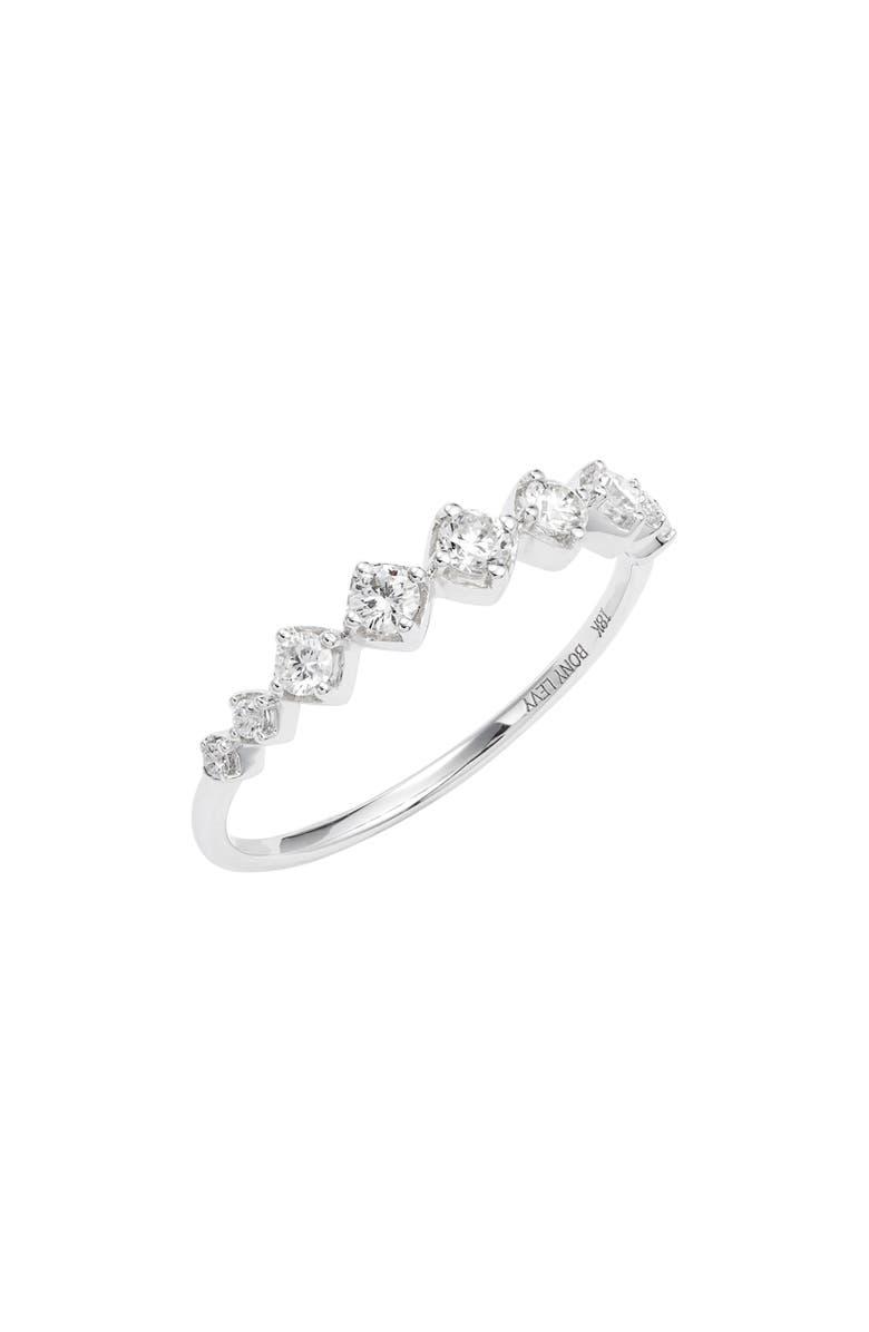 BONY LEVY Diamond Stacking Ring, Main, color, WHITE GOLD/ DIAMOND
