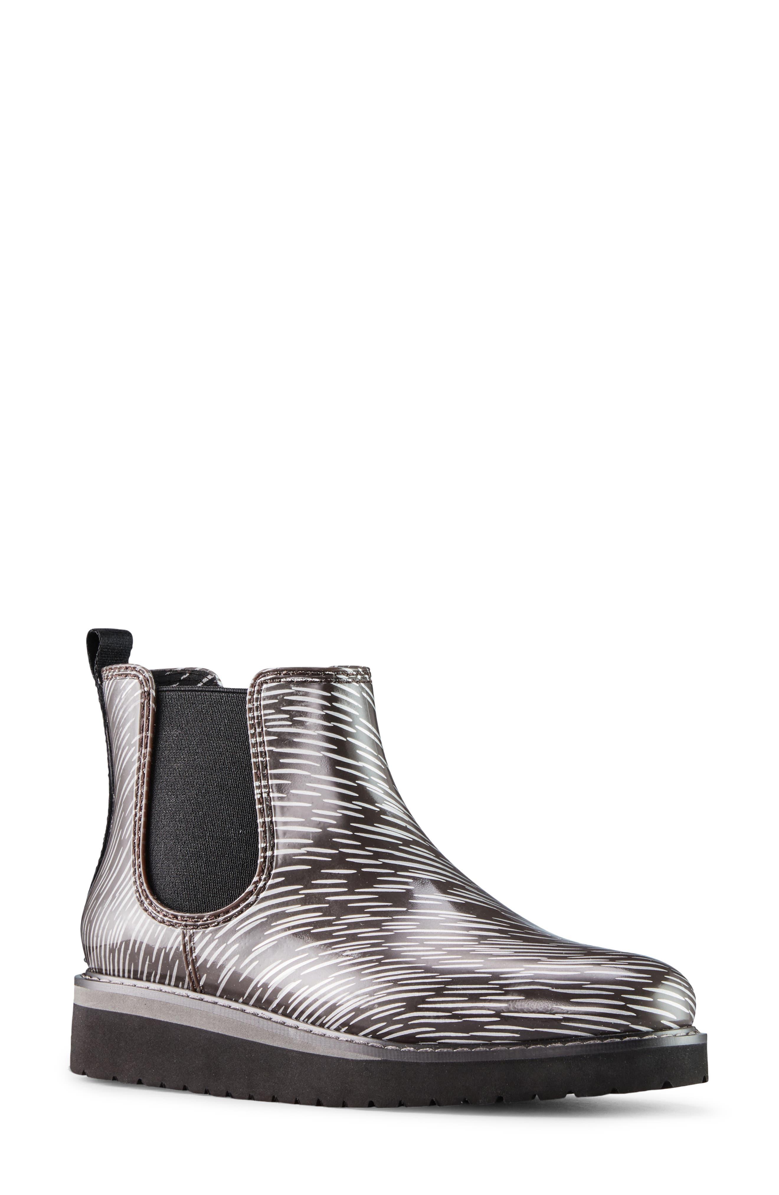 X Jill Malek Kensington Waterproof Chelsea Rain Boot