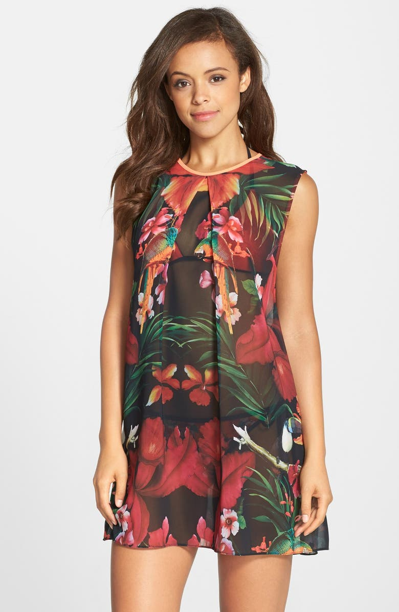 TED BAKER LONDON 'Tropical Toucan' Cover-Up Tunic, Main, color, 600
