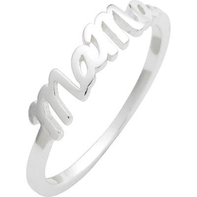 Argento Vivo Mama Ring