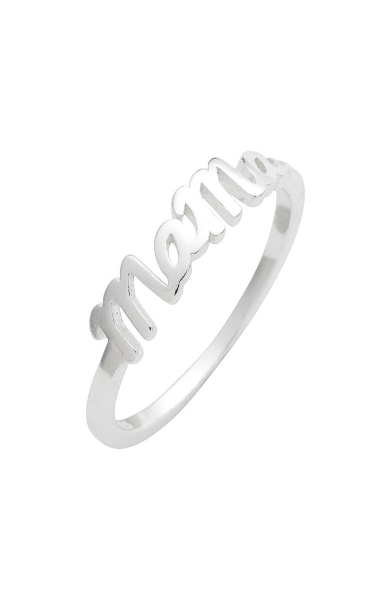 ARGENTO VIVO Mama Ring, Main, color, SILVER