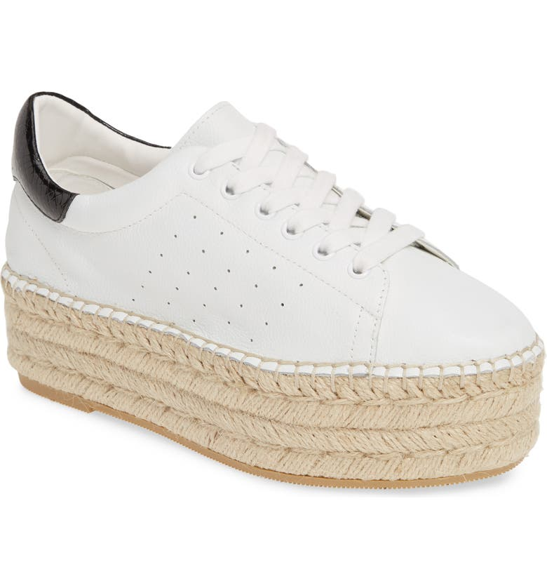 STEVE MADDEN Parade Platform Sneaker, Main, color, WHITE LEATHER
